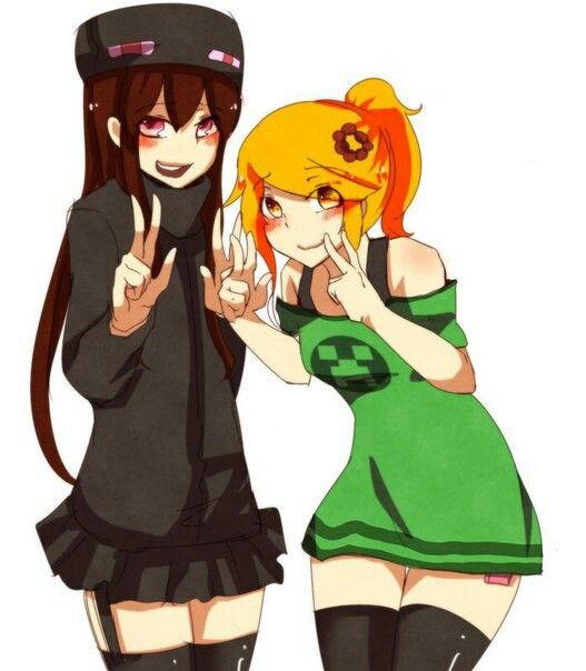 Cupa And Andr Minecraft Anime Girls Minecraft Anime Minecraft Art