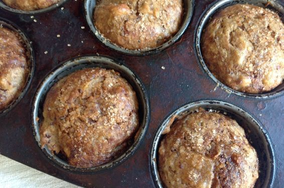 Spiced Applesauce Quinoa Muffins, a recipe on Food52
