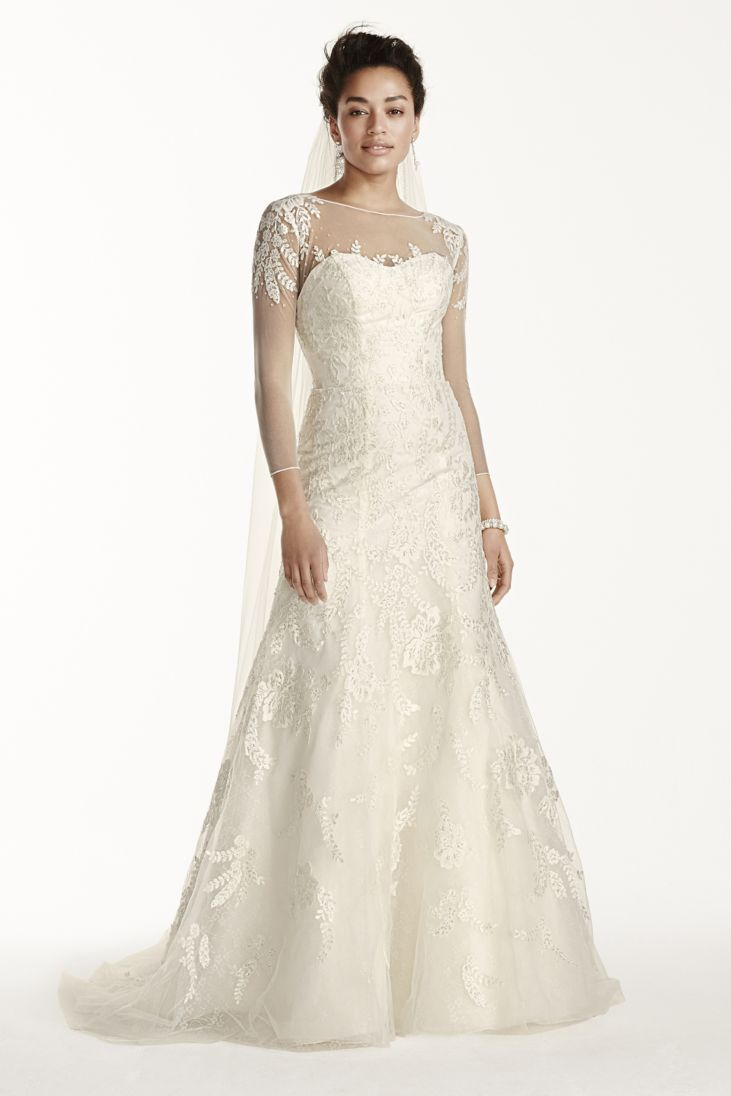 elegantly tailored wedding dresses for brides with pear