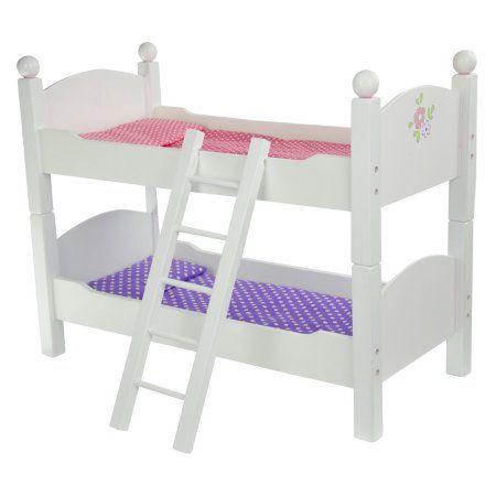 Olivia S Little World Little Princess 18 Doll Double Bunk Bed Walmart Com Doll Bunk Beds Bunk Beds White Bunk Beds