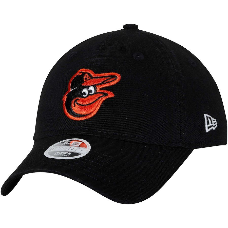 c68b3f834c4 Women s Baltimore Orioles New Era Black 9TWENTY Essential Adjustable ...
