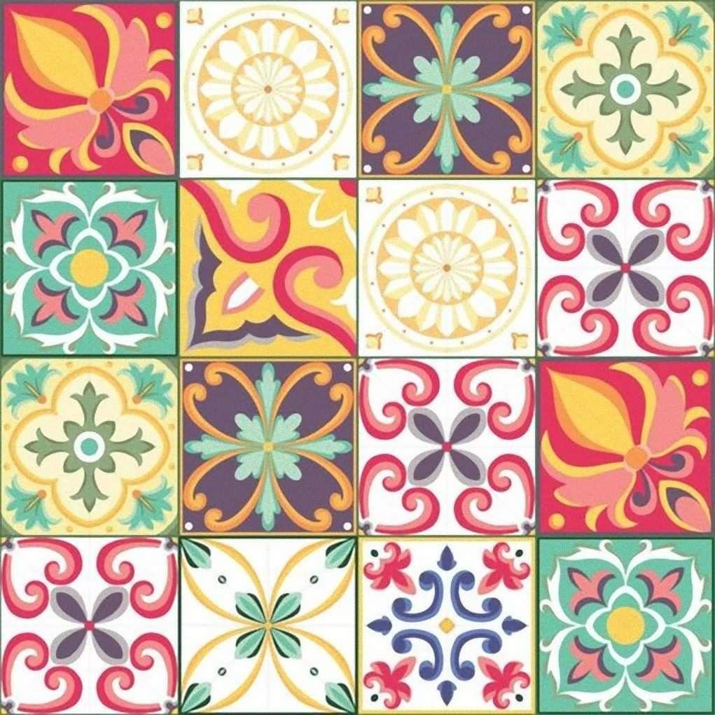 Mosaico Azulejos De Mosaico Azulejos Pintados Azulejos