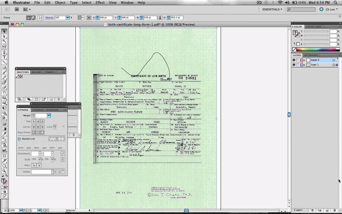 Obama birth certificate faked in adobe illustrator official obama birth certificate faked in adobe illustrator official proof 1 layers aiddatafo Image collections
