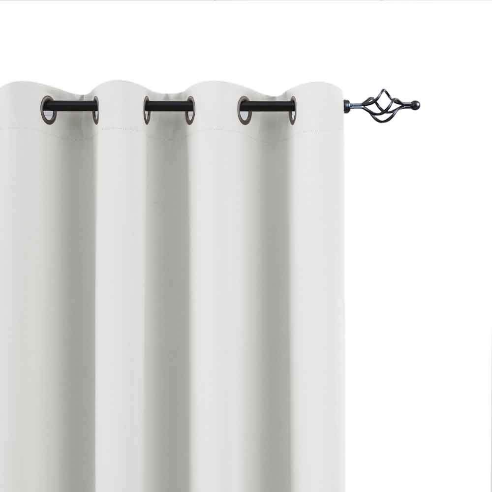 Amazon Com White Curtains 63 Room Darkening Curtains For Bedroom