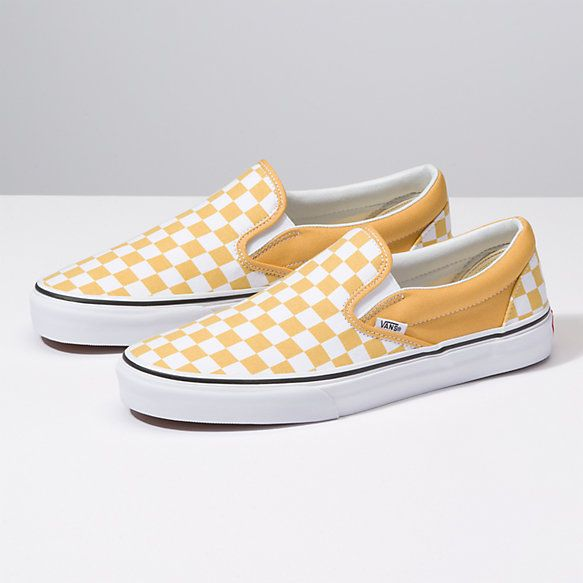 Checkerboard Slip On | Shop Classic Shoes | Vans amarelas