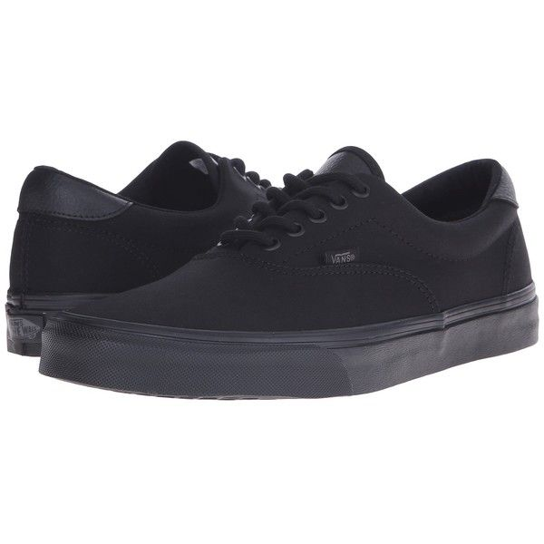 518ffd9ad2 Vans Era 59 ((Mono T L) Black) Skate Shoes ( 55) ❤ liked on Polyvore  featuring shoes