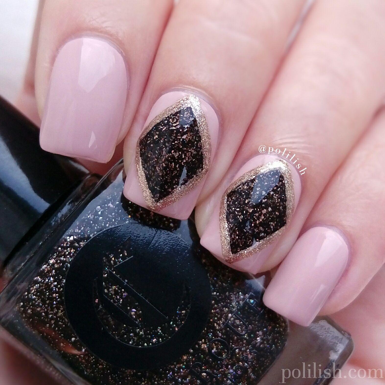 Diamond nail art featuring #CirqueColors \'Smoky Quartz\', \'Dakota ...
