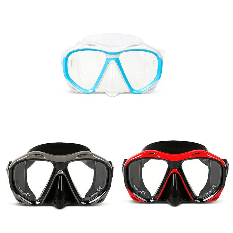 8e7c1edcdb5 Copozz Professional Diving Mask Goggles Men and Women Anti-fog Swimming  Snorkeling Glasses Watersports Equipment