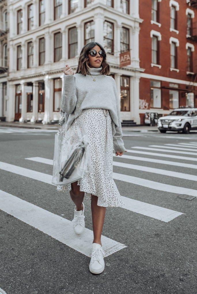 Grey tones #springskirtsoutfits