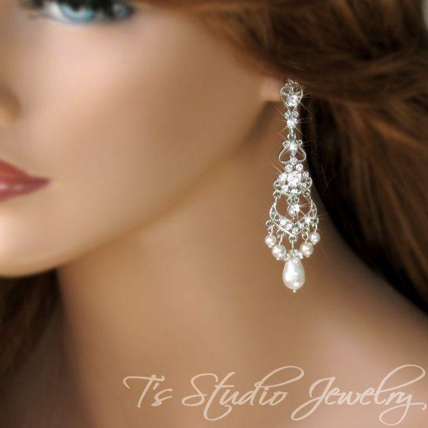 Crystal And Pearl Chandelier Earrings Chandeliers Design – Pearl Chandelier Bridal Earrings