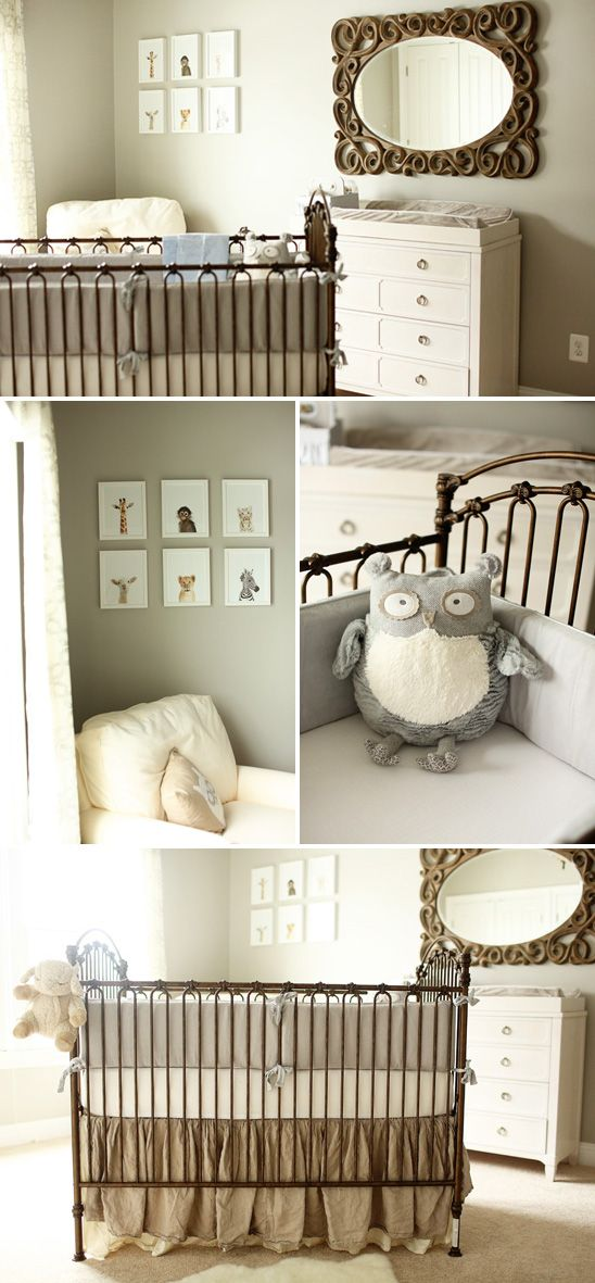 Neutral Baby Girl Nursery: Love The Jungle Picture Frames