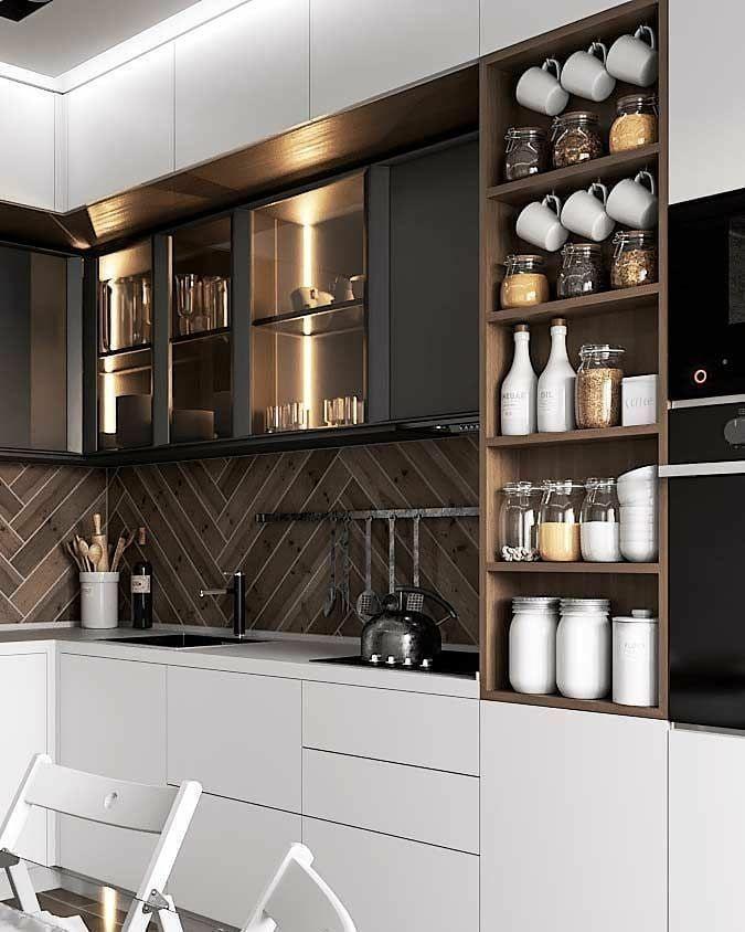 L- Shaped Modular 🍽 Kitchen Design
