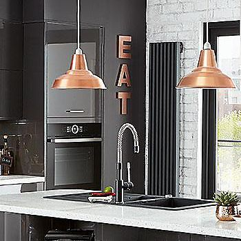 Colours Tezz Copper Light Shade Yes Pinterest Contemporary - Grey copper kitchen