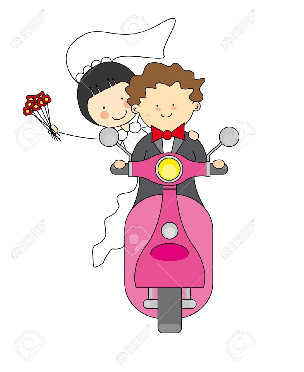 wedding invitation decoration clip art%0A Cute Wedding Couple Clipart images