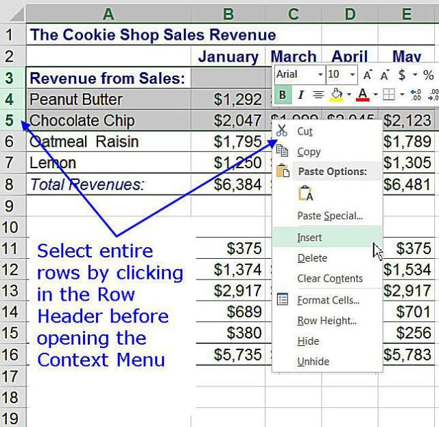 Add And Delete Rows And Columns In Excel Excel Shortcuts Excel Column