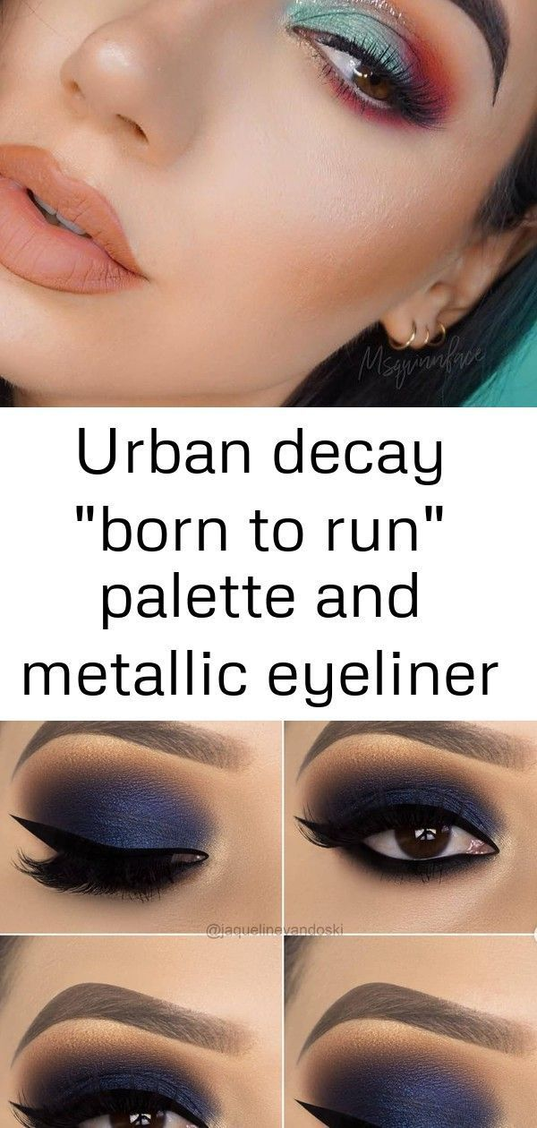 Urban Decay quotBorn to Runquot palette and metallic eyeliner in quotMidnight Cowboyquot 10 Awesome Blue Eye Ma