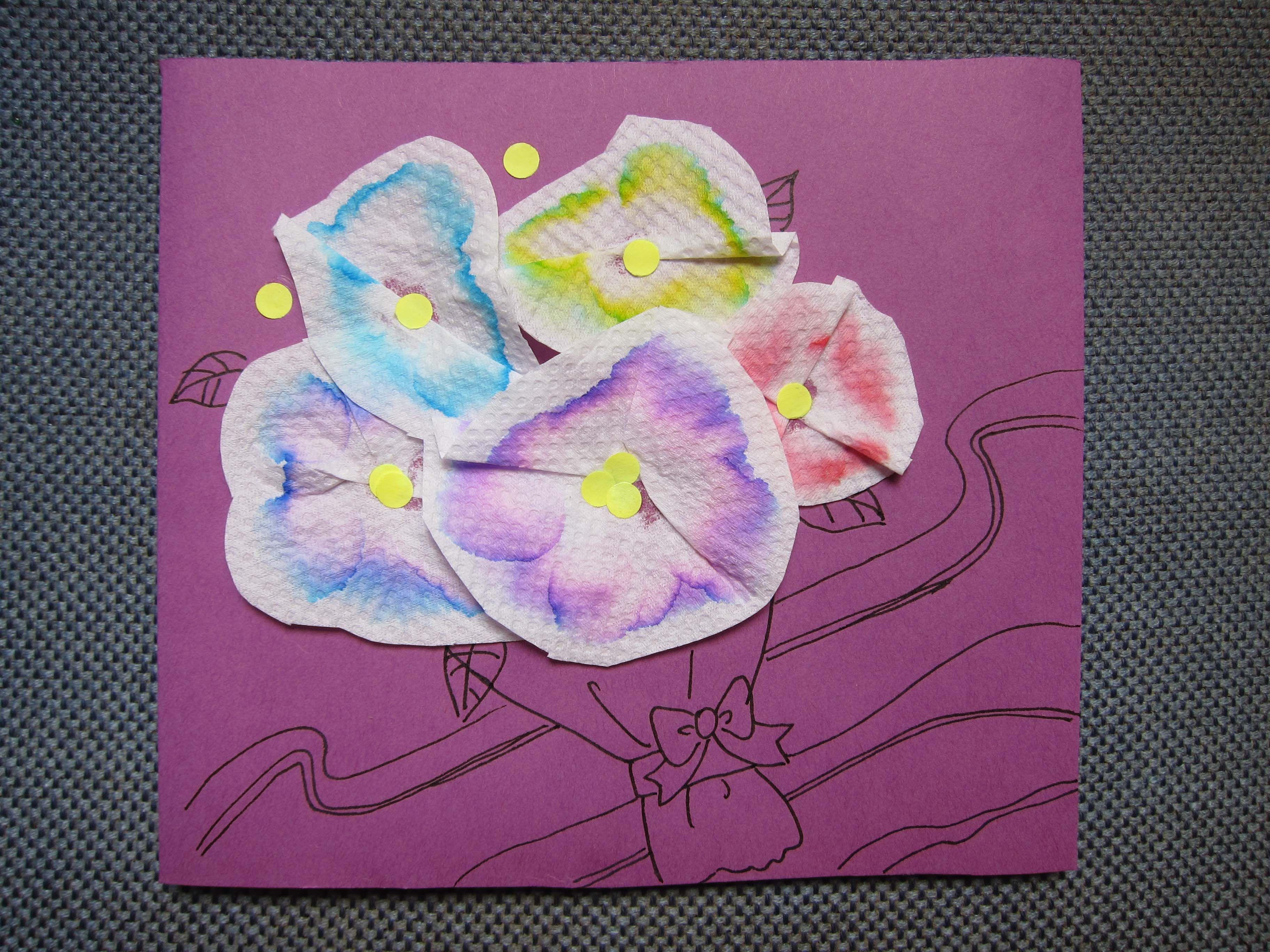 Kitchen tissue motheru day card kids crafts paper crafts