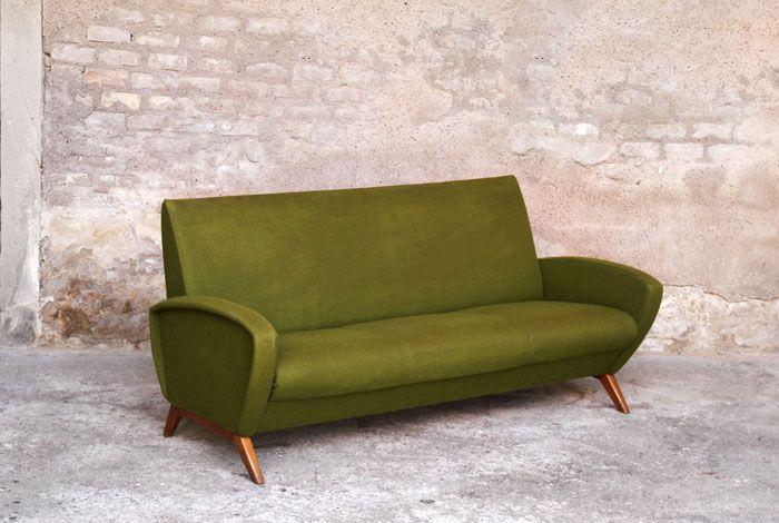 Canapé vintage des années 60 | Mid century furniture ...