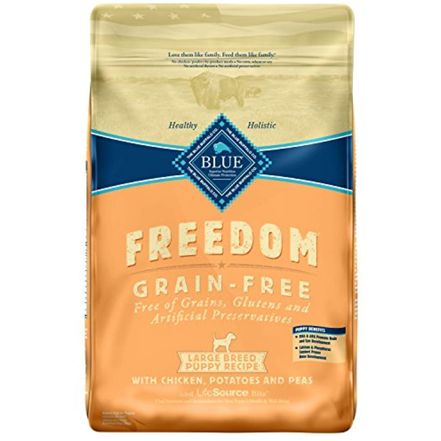 Blue Buffalo Freedom Grain Free Natural Puppy Large Breed Dry Dog Food Chicken 24 Lb To View Fu Dry Dog Food Dry Cat Food Large Breed Puppy Food