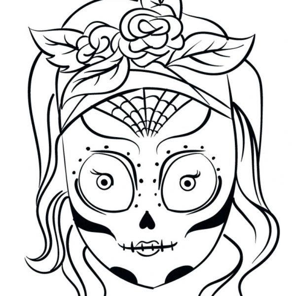 Dibujos De Calaveras Para Colorear Día De Los Muertos Pinterest