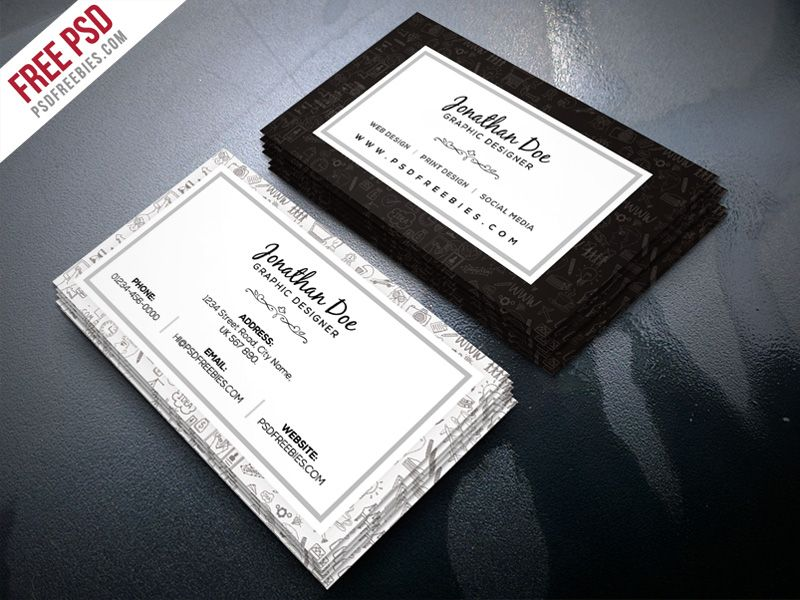 Freelance designer business card template psd pinterest download free freelance designer business card template psd this business card template free psd is cheaphphosting Images