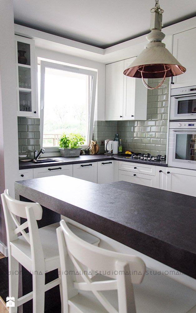 Kuchnia Z Wyspa W Stylu Skandynawskim Kitchen In 2019 Kitchen