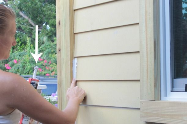 How To Caulk Exterior Siding And Why Not To Caulk Fresh Pressure Treated Wood The Space Between Exterior Siding Wood Siding Exterior House Paint Exterior