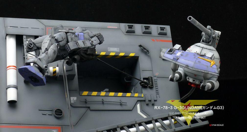 Full Review 1/144 Semi-Scratch Build Diorama: RECOVERY [1/144 G-3 Gundam, RB-79 Ball] Hi Res Images, Info http://www.gunjap.net/site/?p=287693