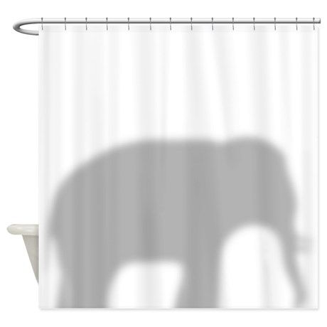 Elephant Silhouette Shower Curtain By Inspirationz Store