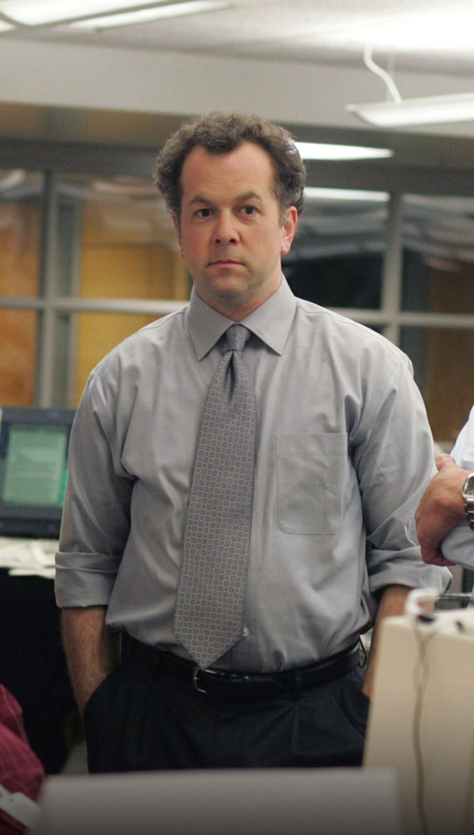 David Costabile As The Gullible Managing Editor Of The Baltimore