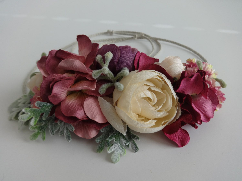 Flower Crown, Bridal, Toddler, Baby Flower Crown, Bride, Headpiece, Flower Girl…