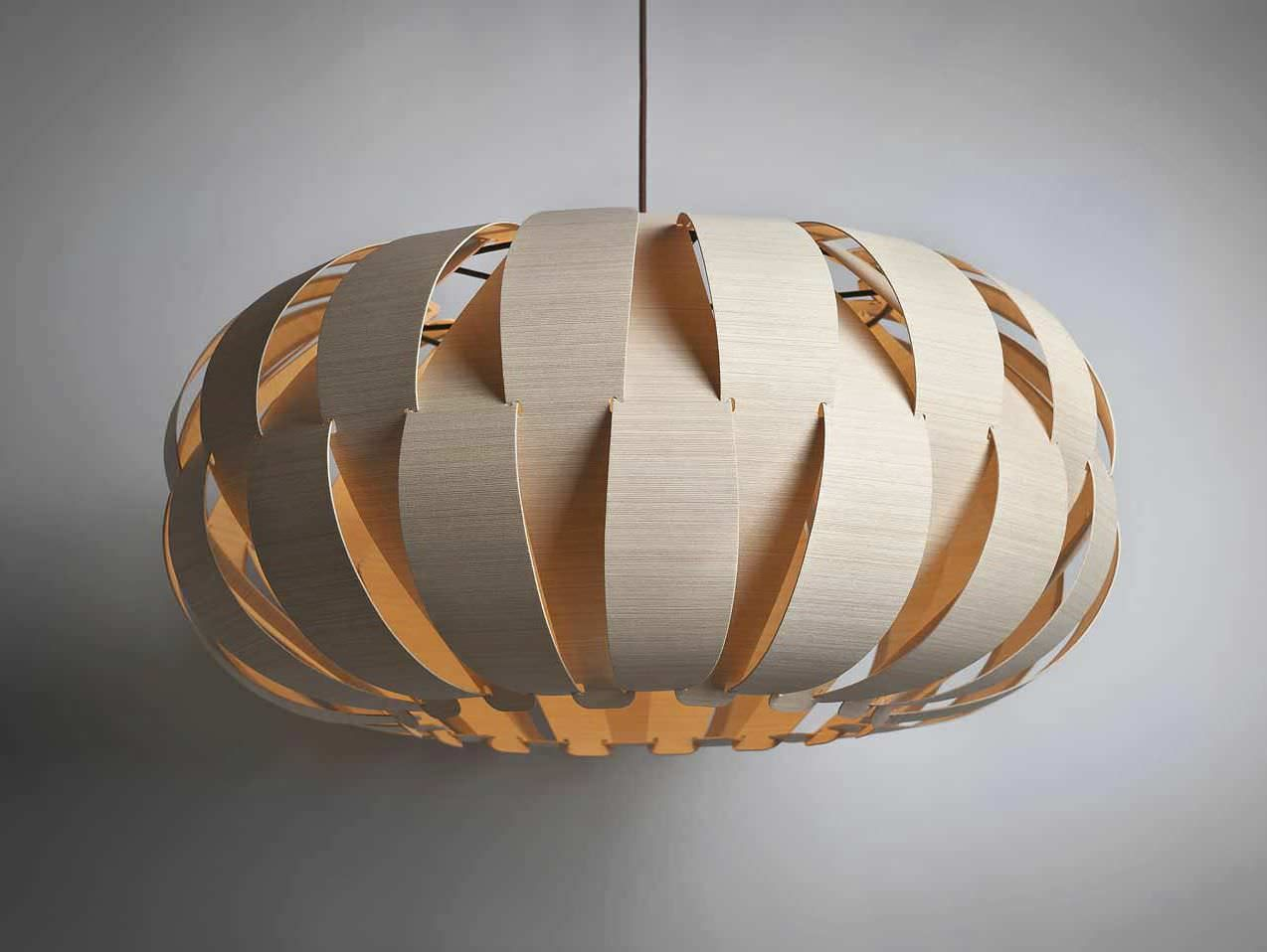 Charming Pendal Lamp From The LFI Innovation Awards Emilia 75 Is A Unique And  Aesthetic Pendant Lamp Made Of A Flexible Wood Veneer That Have Been  Developed By ... Good Ideas