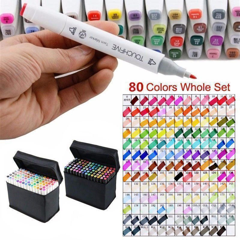 Touchfive Markers Bush Pen Alcohol Markers Liner for Drawing sketch Art Supplies