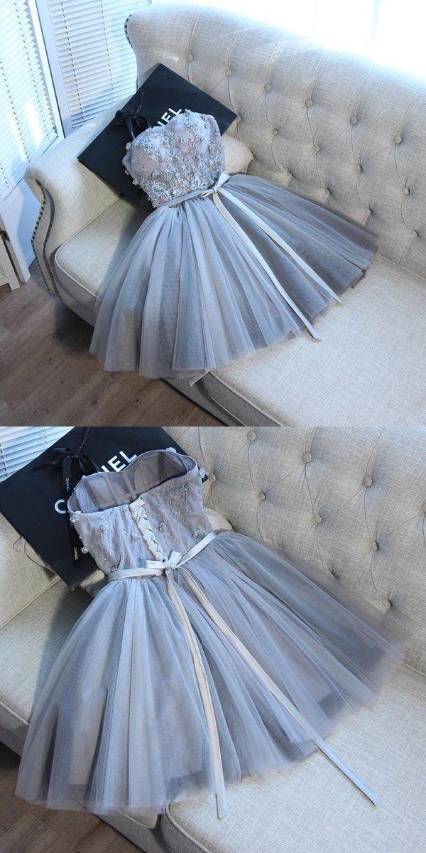 ea2b1e2951b A-Line Spaghetti Straps Tulle Sweetheart Homecoming Dresses Online ...