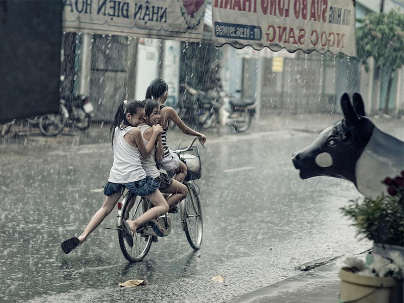There Is Madness In Everything Biking In The Rain Bikes Girls Bike
