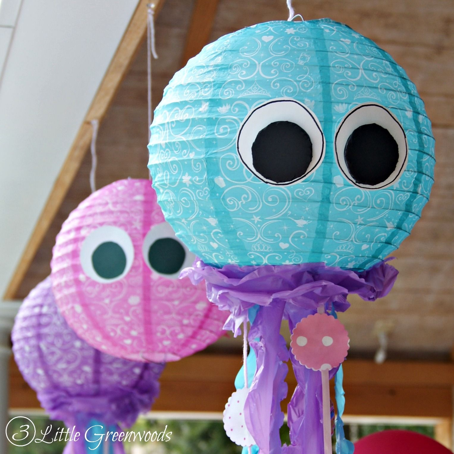 Paper Lantern Jellyfish Classy Simple Paper Lantern Jellyfish For A Little Mermaid Birthday Party Decorating Design