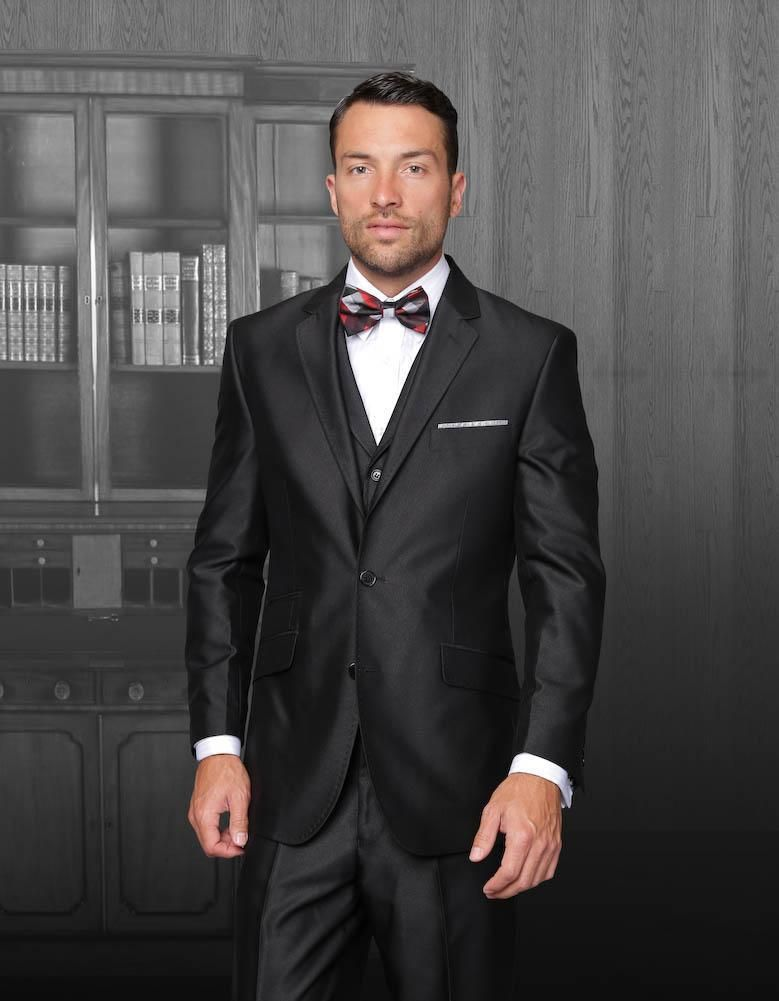 New Arrival Black tuxedos suits for grooms Jacket+Pants+Tie+Vest ...