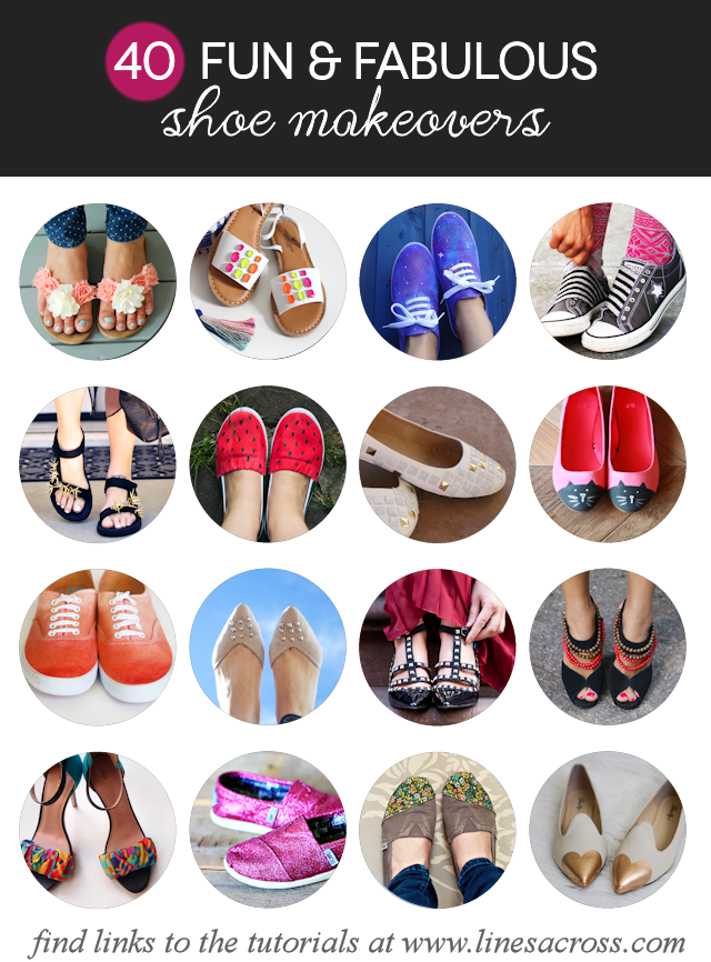 40 Fun and Fabulous Shoe Makeovers by Lines Across