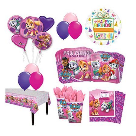 Buy The Ultimate 16 Guest 94pc Paw Patrol Girls Skye And Everest Birthday At Walmart