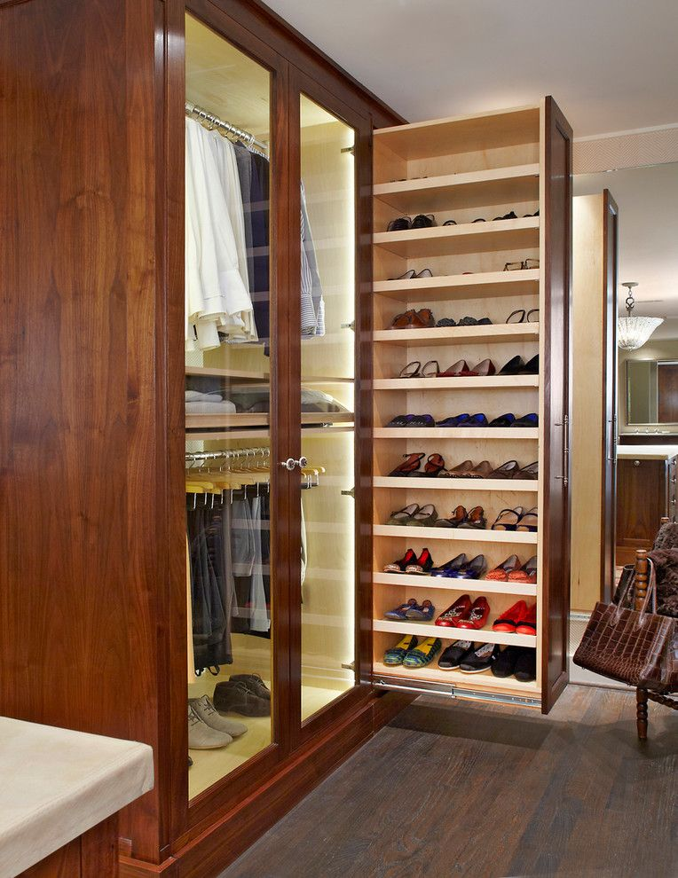 Shoes closet ideas closet traditional with shoe rack pull out cabinets pull out cabinets - Shoe storage ideas small space image ...