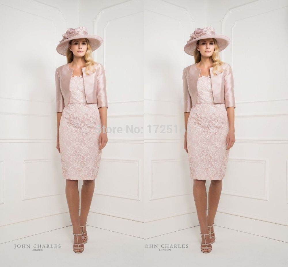 pink mother of the bride dress