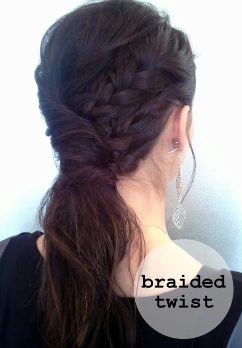 Braided hair twist