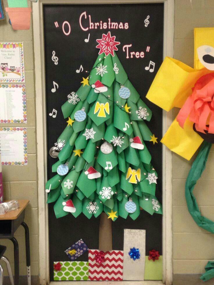 O Christmas Tree Christmas Door Decorating Contest