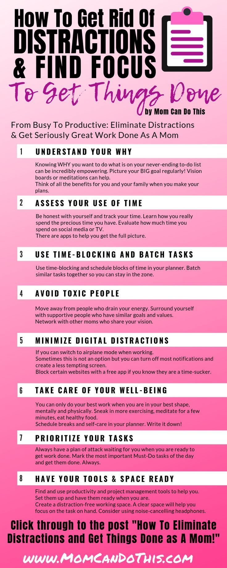 How To Eliminate Distractions And Be A Super Productive Mom #geniusmomtricks