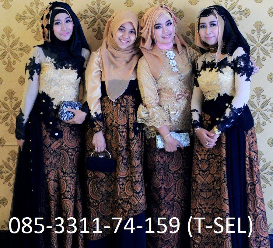 Model Baju Batik Kombinasi Brokat Untuk Pesta Pernikahan