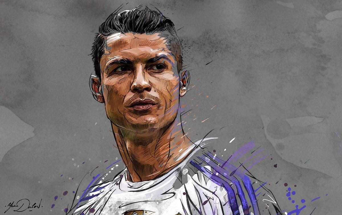 Poster Affiche Cristiano Ronaldo CR7 Football Star Retoune But