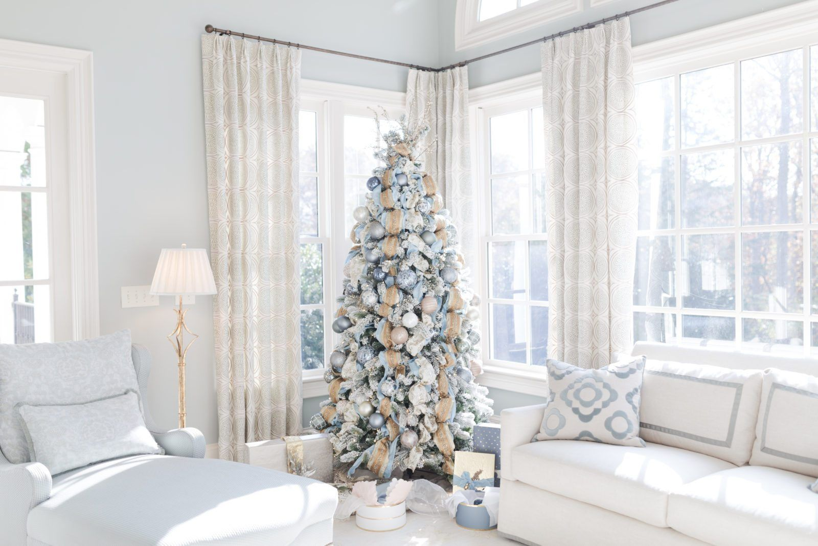gold and blue christmas decorations my cinderella tree i m rh pinterest ca