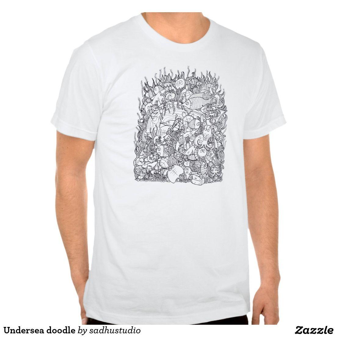Undersea doodle t-shirts