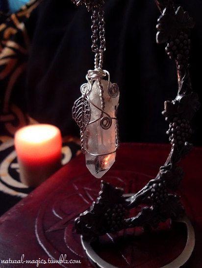 Clear Quartz Necklace by NaturalMagics - https://www.etsy.com/shop/naturalmagics