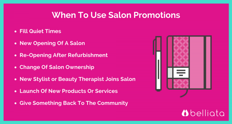 Salon Specials Ideas Promotions